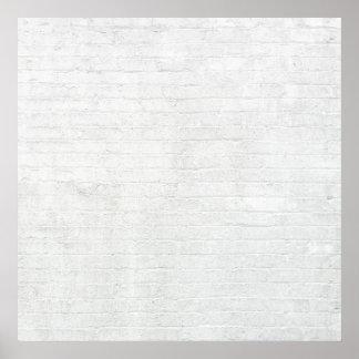 Textura blanca del fondo de los ladrillos de la póster