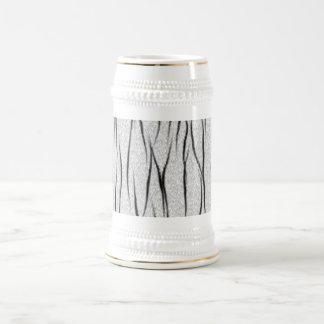 Textura blanca del tigre jarra de cerveza