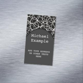 Textura blanca del Web + su bachgr. y ideas Tarjetas De Visita Magnéticas (paquete De 25)