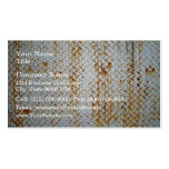 Textura blanca oxidada de la placa de la pisada tarjetas de visita