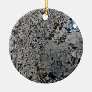 Textura blanco y negro del granito ornamentos de navidad