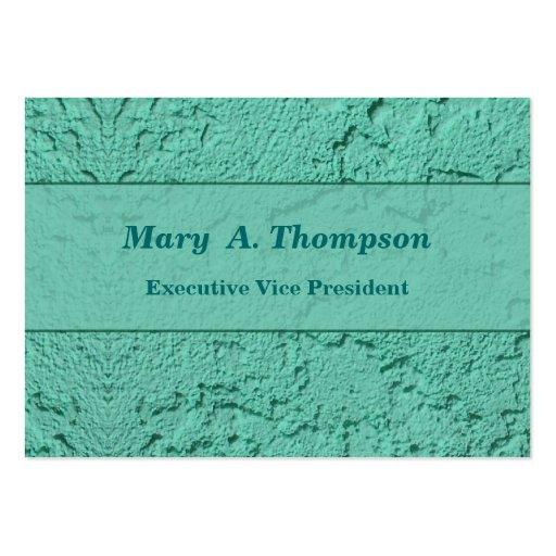 Textura brillante del estuco de la turquesa tarjetas de visita grandes