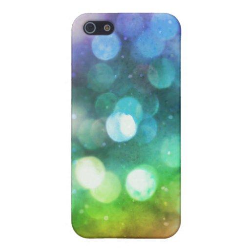 Textura brillante i de Bokeh del arco iris iPhone 5 Cárcasa
