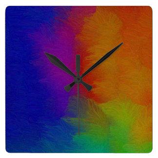 Textura brillante relojes de pared