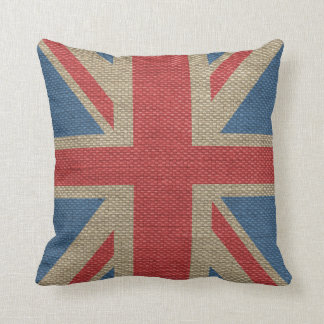 Textura BRITÁNICA de moda fresca de la arpillera d