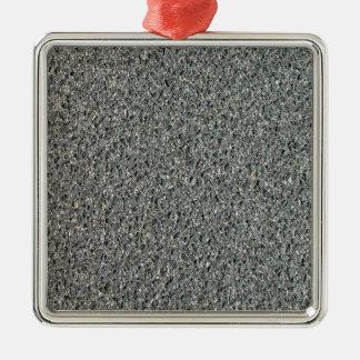 Textura caliente del betún de la mezcla adorno cuadrado plateado