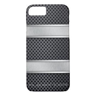 Textura cepillada personalizada del níquel funda iPhone 7