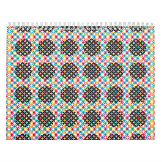 textura circular del color calendarios de pared