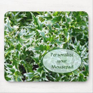 Textura claveteada Mousepad - verde de las hojas