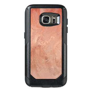 Textura color de rosa del cobre del oro metálica funda otterbox para samsung galaxy s7