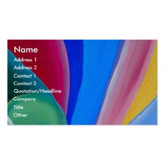 Textura coloreada artística tarjetas de visita