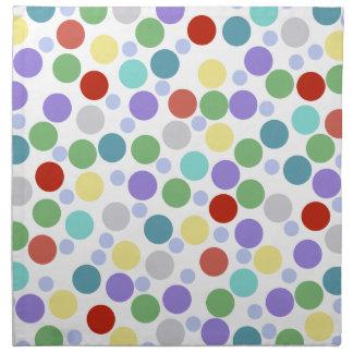 textura coloreada lunares servilletas imprimidas