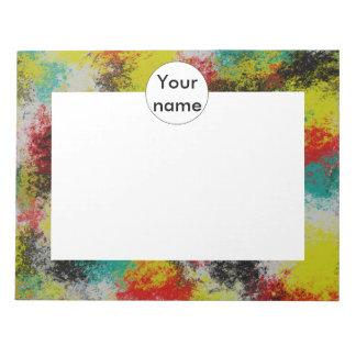 Textura colorida bloc de notas