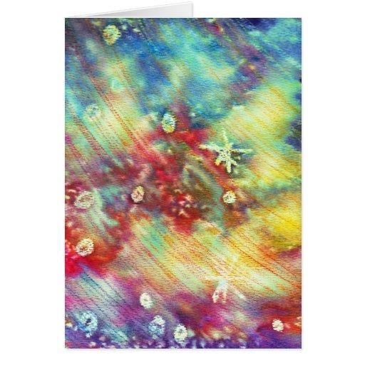 Textura colorida de la acuarela tarjeta de felicitación