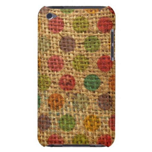 Textura colorida de la arpillera de la tela del Gr iPod Touch Case-Mate Carcasa
