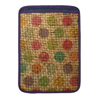 Textura colorida de la arpillera de la tela del Gr Fundas Para Macbook Air