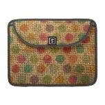 Textura colorida de la arpillera de la tela del Gr Funda Macbook Pro