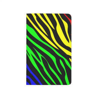 Textura colorida de la cebra cuadernos