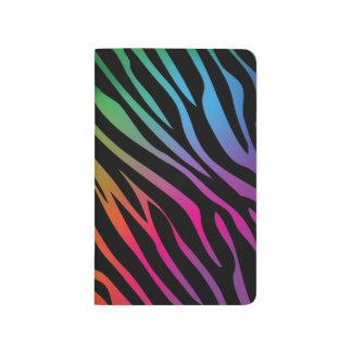 Textura colorida de la cebra cuadernos grapados