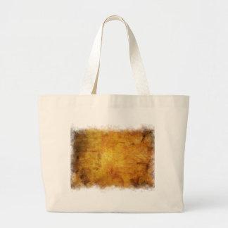 Textura colorida de las hojas de otoño bolsa tela grande
