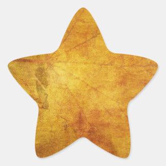 Textura colorida de las hojas de otoño pegatina en forma de estrella