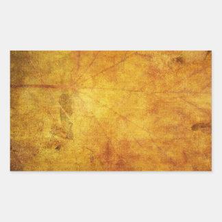 Textura colorida de las hojas de otoño pegatina rectangular