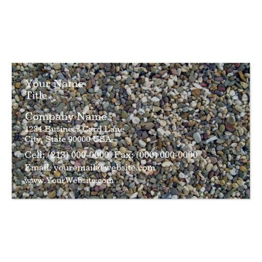 Textura colorida de las piedras del guijarro tarjetas de visita
