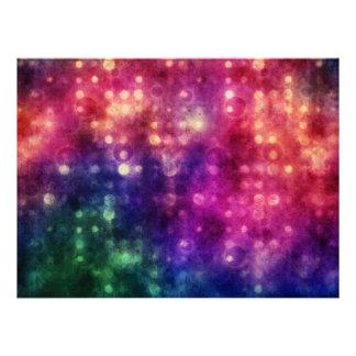 Textura colorida de los círculos comunicados personales