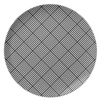 Textura comprobada geométrica platos