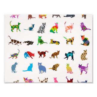 Textura con los gatos coloridos fotografía