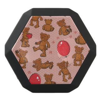 Textura con los osos de peluche, corazones