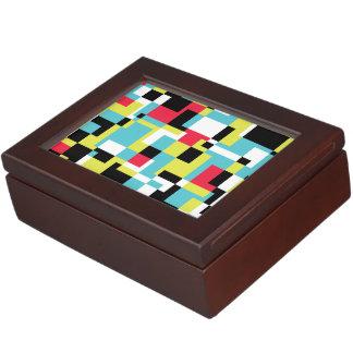 Textura con rectángulos cajas de recuerdos