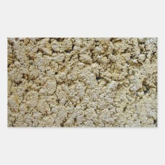 Textura concreta de la piedra caliza rectangular pegatina