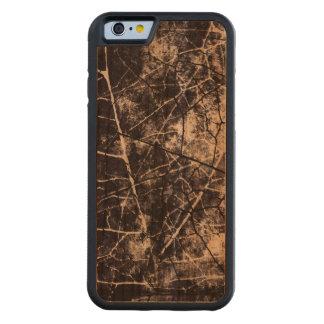 Textura Crackled blanco y negro del Grunge de la Funda De iPhone 6 Bumper Cerezo