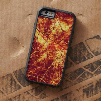 Textura Crackled roja oxidada del Grunge de la Funda De iPhone 6 Tough Xtreme