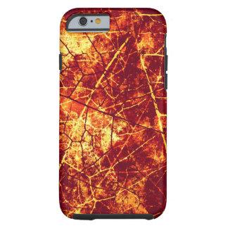 Textura Crackled roja oxidada del Grunge de la Funda Para iPhone 6 Tough