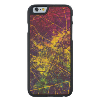 Textura Crackled rosada púrpura amarilla del Funda De iPhone 6 Carved® Slim De Arce