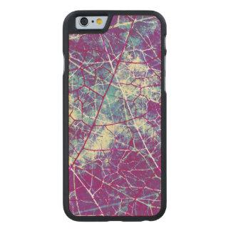 Textura Crackled violeta azul clara del Grunge de Funda De iPhone 6 Carved® Slim De Arce