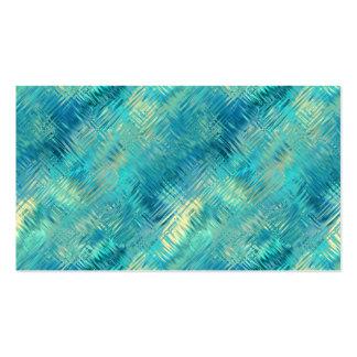 Textura cristalina del gel del azul de Aquamarine Plantillas De Tarjetas Personales