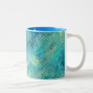 Textura cristalina del gel del azul de Aquamarine Tazas