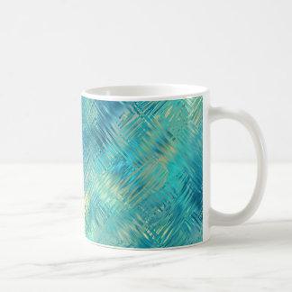 Textura cristalina del gel del azul de Aquamarine Taza De Café