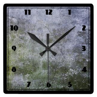 Textura cubierta musgo abstracto del muro de reloj cuadrado