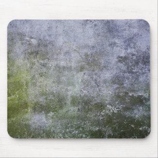 Textura cubierta musgo del muro de cemento mouse pads