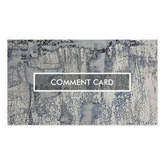 textura curruscante de la tarjeta del comentario tarjetas de visita