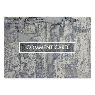 textura curruscante de la tarjeta del comentario tarjetas de visita grandes