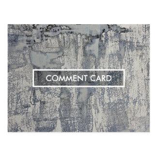 textura curruscante de la tarjeta del comentario tarjetas postales