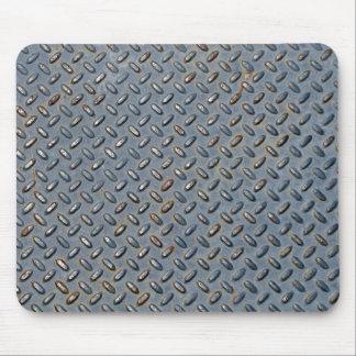 Textura de acero de la pisada tapete de raton