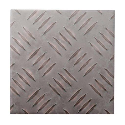 Textura de acero de la placa del diamante azulejos ceramicos