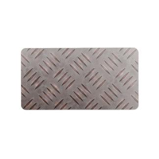 Textura de acero de la placa del diamante etiquetas de dirección