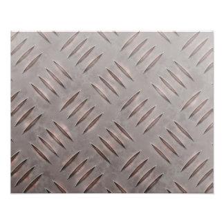 Textura de acero de la placa del diamante fotografía